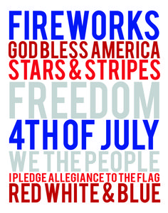 4th of July FREE Printables | 4th of July Subway Art | moritzfinedesigns.com