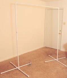 PVC pipe backdrop stand