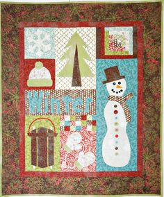 Fun wall quilt for winter.