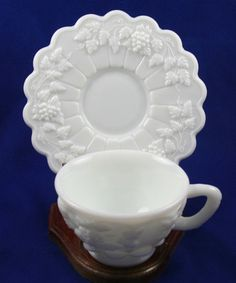 milkglass, milk glassi, teacup