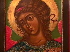 heaven window, archangel michael, icon orthodox