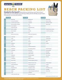 Beach packing list!