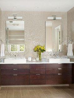 Bathroom Mosaic Tile White Backsplash Ideas