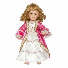 Laat je pop verkleed gaan in dezelfe style, met deze prachtige kersen roze jurk Marie Antoinette, voor een pop van 40-51 cm.