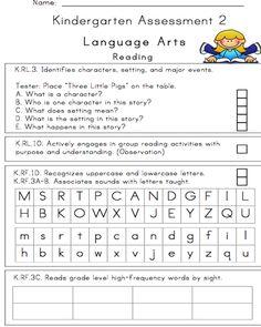 24 page, Illustrated Kindergarten Assessment   Miss Bindergarten's Classroom