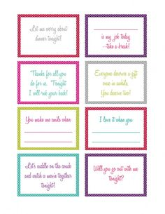 14 Days of Love Printables --fun idea to give your spouse or significant other around Valentine's Day or just because