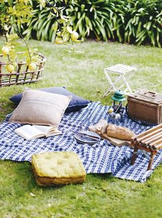 Picnic essential: a #gingham blanket!