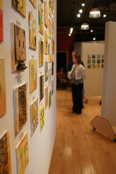 Just some of the artwork that was for sale at the 6x6 Opening Party at Gallery Main Street in Tyler, Texas.