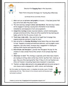 10 Strategies for Teaching Boys Effectively