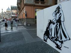 Pope Francis on a Vespa -- Banksy? Photo courtesy of @ileinpimentel