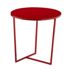 Mesa Lateral Esquadro Vermelha