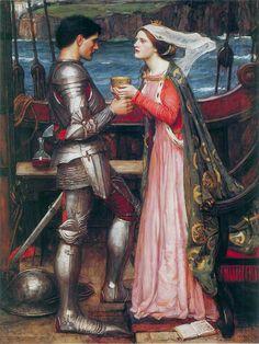 Tristram and Isolde by John William Waterhouse :: artmagick.com