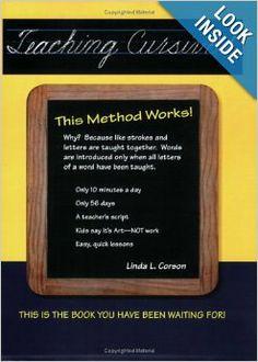 Teaching Cursive! This Method Works: Linda L Corson, Marian Woodall, Linda Corson: 9780941159302: Amazon.com: Books