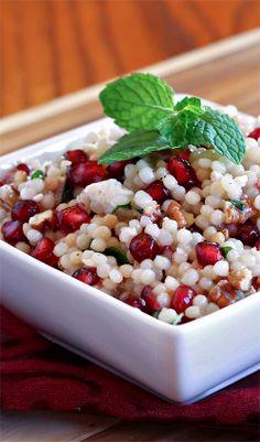 pomegranate amp couscous salad with mint amp feta a couscous salad ...