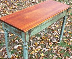 decor, rustic refinished furniture, clays, colors, craft tables