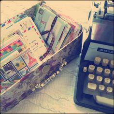 My love for snail mail & typewriters!  #typewriters #snailmail #penpals #vintage #old #correspondence