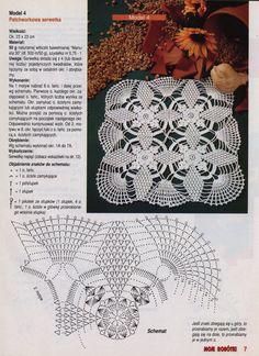 "alyona.merletto - on Yandex "" Moje robotki 2002-11 "" motif doily pic  diagram"
