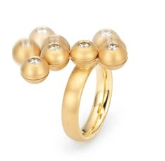 Niessing gold and diamond 'Mobile' ring
