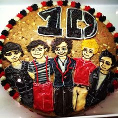 The perfect Cookie Cake for One Directions fans - thanks to Mrs. Fields Plenty Valley in Melbourne