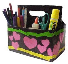 Make an organizer from MakingFriends.com organize your supplies.
