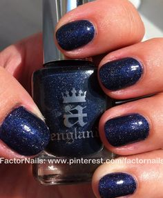 Like having the night's sky on your nails!!