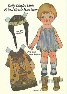 Dolly Dingle Camp Fire Girl Paper Doll