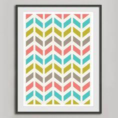 Chevron Art Print -- $20