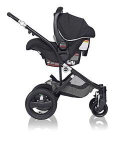 Britax Affinity Stroller – Create a custom travel system with a Britax B-Safe infant car seat #baby #style #custom