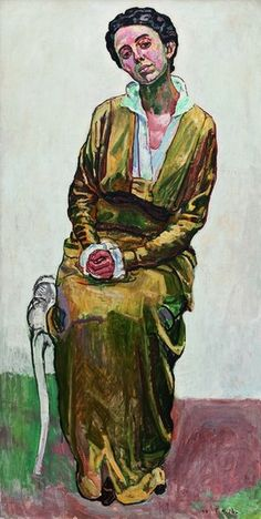 A woman portrait by Ferdinand Hodler.