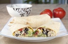 Tequila Lime Chicken and Black Bean Burritos for CInco de Mayo!