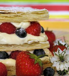 Summer Berry Mille Feuille - another way to use up summer berries.