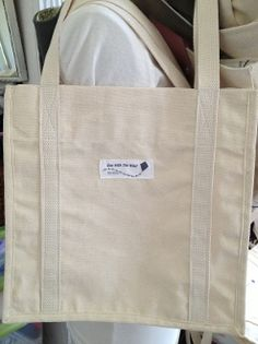 Natural Canvas Tote Bag-Ready To Go
