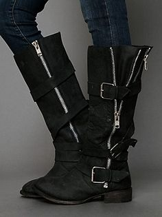 Dolce Vita Marlo Zip Buckle Boot at Free People Clothing Boutique