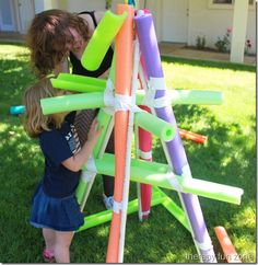 Pool Noodle Ball Run  -  Pinned by @PediaStaff – Please Visit http://ht.ly/63sNt for all our pediatric therapy pins