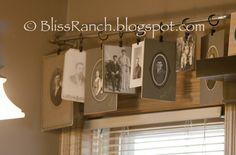 Old Photo Window Valance