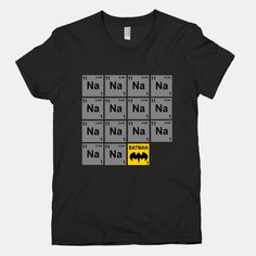 Periodic Table of Batman; hahaha Dwight would love this!