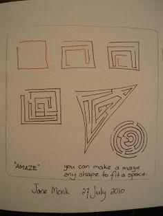 Amaze: Jane Monk Studio - Longarm Machine Quilting & Teaching the Art of Zentangle®: Jane's new Zentangle Patterns