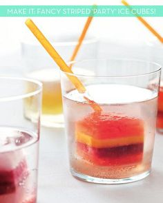 Striped Ice Cubes - if I ever decide to have a party...