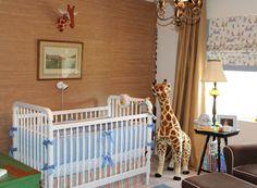 Safari Theme Boy's Nursery - love the mix of classic and whimsical! #nursery