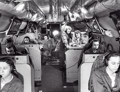 Lockheed EC-121D Warning Star Interior (2 of 2)  View of the radar operators in an U.S. Air Force Lockheed EC-121D Warning Star aircraft of the 552nd Airborne Early Warning & Control Wing during the Vietnam War