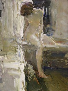 Artist: Dan McCaw - American expressionist painter {figurative nude female human body woman painting} <3