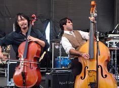Avett Brothers' Joe Kwon & Bob Crawford by Scott & Justine fromWyo, via Flickr
