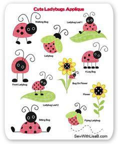 ladybugs applique ideas