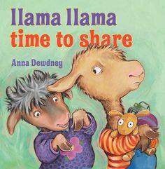 Llama Llama Time to Share by Anna Dewdney, http://www.amazon.com/dp/0670012335/ref=cm_sw_r_pi_dp_hyrRrb1RVS2JG