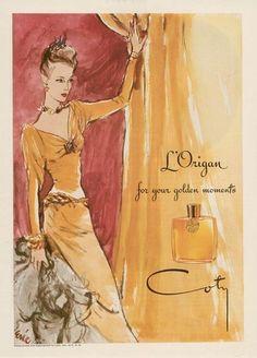 Coty perfume vintage ad