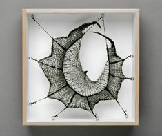 Mo Kelman: Rota (shibori dyed and shaped silk, wooden box)
