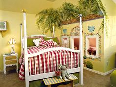 wall mural. poster bed