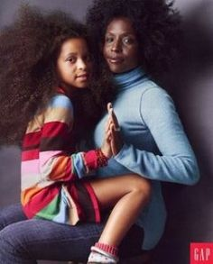 the gap, artists, lorna simpson, mother, natur hair, gap ad, beauti, daughters, style fashion