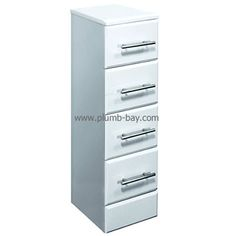 350x330 classic white gloss #bathroom drawer unit - £89.00 http://www.plumb-bay.com/4-drawer-unit-350w-330d
