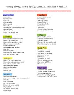 Free Spring Cleaning Printable Checklist!